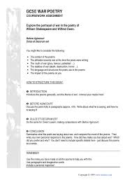 compare poems one essay gcse  compare 4 poems one essay gcse