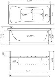 <b>Акриловая ванна Triton Эмма</b> 170x70 Н0000020136 в Москве по ...