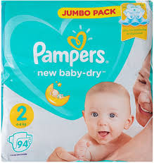 <b>Pampers Подгузники New Baby-Dry</b> 4-8 кг (размер 2) 94 шт ...