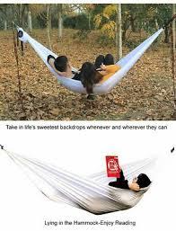 <b>Double</b> Hammock Outdoor Garden <b>Hanging</b> Chair Portable <b>Bed</b> ...