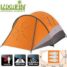 <b>Палатка</b> туристическая <b>Norfin Dellen 3</b> купить по цене от 10262₽