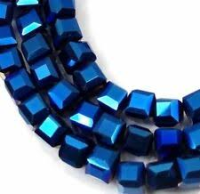 Cube Faceted Jewelry Making Beads for sale | eBay