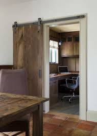 barn doors home office rustic with salvaged door coffee office blue brown home office