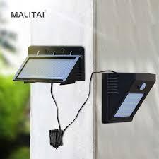 Separable <b>Solar</b> Panel Outdoor <b>LED Wall lamp</b> Motion Sensor/Night ...