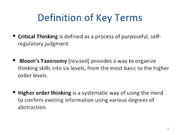 Key Terms and the Inference Continuum   Building Critical Thinking  th  th Grade  Critical Thinking Handbook