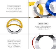 <b>Car Styling</b> Steering Wheel Emblem Decorative Circle Ring ...