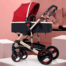 <b>High Landscape Baby Stroller</b> 3 in 1 Portable Luxury Baby Stroller ...