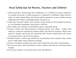 essay on road safety road safety  highway safety tips for parents and teachers how to pr