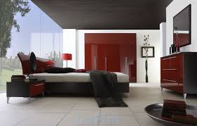 bedroom design featuring the color red bedroom furniture for men