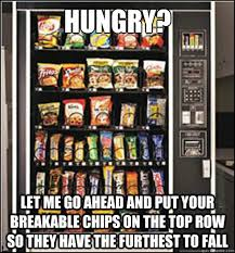 Hungry? Let me go ahead and put your breakable chips on the top ... via Relatably.com