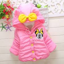 Baby Girls <b>Autumn Winter Warm</b> Minnie Jackets Coats <b>Children Kids</b> ...