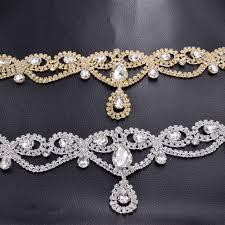 <b>1piece</b> Very Luxury <b>40cm</b> length <b>Glass</b> rhinestone bridal belt ...