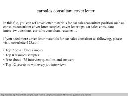 Resume Cover Letter Car Sales     BONP