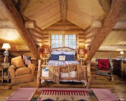 Rustic Cabin Bedroom Decorating Log Home Christmas Decorating Ideas Lakefront Home Plans