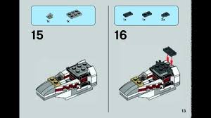 <b>Lego Star Wars</b> microfighter instructions for X-Wing Fighter <b>75032</b> ...