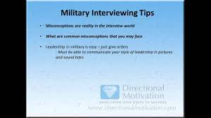 military interviewing tips