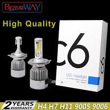 <b>BraveWay H4</b> Led Light <b>Headlight Lamps</b> 6500K H7 <b>H4</b> H1 H8 H11 ...