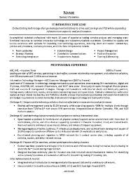 resume example extec  a jpg IT Supervisor Resume Example