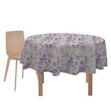 <b>скатерть ALBA</b> Вальс цветов круглая 160см фиолетовая хлопок ...