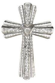 iron wall cross love: decorative silver heart wall cross  decorative silver heart wall cross
