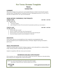 teen resume info examples of a resume for a teenager sample job application letter