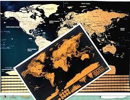 <b>Retro Kraft Pirate Sailing</b> World Map Poster Wall Sticker Living ...