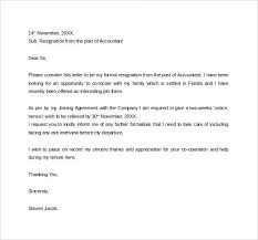 formal resignation letter      download free documents in word  pdfresignation letter to hr manager