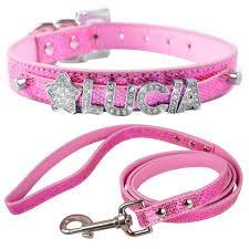 <b>Personalized</b> PU Leather <b>Dog Harness</b> & Leash <b>Customized</b> Free ...