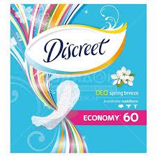 <b>Прокладки</b> женские <b>ежедневные Discreet</b> Deo Ocean Breeze, <b>60 шт</b>