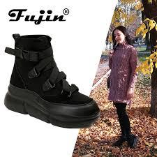<b>Fujin 2019</b> New Arrival Canvas Ankle <b>Boots</b> For <b>Women</b> Hook Loop ...