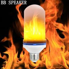 E27 6W <b>LED Flame Effect</b> Fire <b>Light</b> Bulbs Flickering Emulation ...