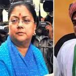 Congress pits Manvendra Singh against Vasundhara Raje