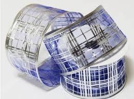 <b>Лента упаковочная</b> (органза), 63 мм x <b>10 м</b>, цвет: синий, арт. 98 ...