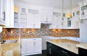 green kitchen cabinets tiled splash  white kitchen interior design amp decor ideas pictures