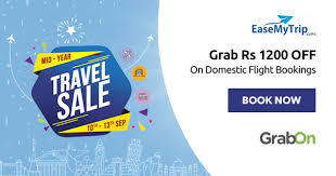 EaseMyTrip Coupons, Offers: Up to Rs 3000 OFF Codes Jul 2021
