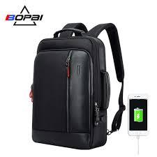 BOPAI <b>Multifunction</b> USB Charging <b>Men</b> 15.6 Inch Laptop <b>Backpack</b> ...