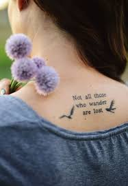"""Not all who wander are lost"""" bird tattoo I'm seriously in love ... via Relatably.com"""