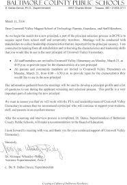 principal selection letter cve pta principal selection letter