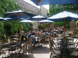 patio dining:  cafe centraal bay view