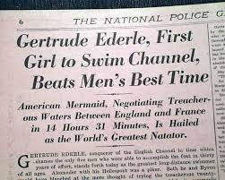 「Gertrude Ederle」の画像検索結果