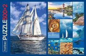 <b>Пазл Hatber</b> Premium Морской Круиз <b>набор</b> 500+500 элементов ...