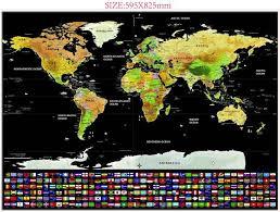 Hot Deal #37ba4 - <b>Deluxe Black Decoration</b> World Map Scratch Off ...