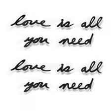 <b>Надпись декоративная Love is</b> all you need, черная | Подарки.ру
