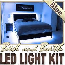 biltek 164 ft blue bedroom dresser headboard led lighting strip dimmer remote wall plug 110v headboard closet make up counter mirror light lamp bedroom headboard lighting