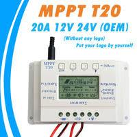 OEM LCD Display <b>20A</b> MPPT 12V/24V Solar Panel Battery...