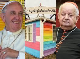 Znalezione obrazy dla zapytania Dziwisz spotkał się ze środowiskami LGBT