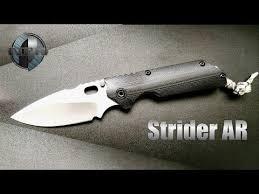Strider StoneWashed Tactical <b>Folding Knife D2</b> Blade TC4 titanium ...