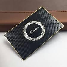 Printed Black <b>metal card</b> matte finishing <b>custom</b> stainless steel ...