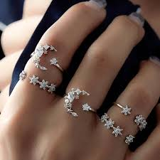 Cheap best <b>5Pcs</b> Fashion Ring <b>Sets Bohemian</b> Finger Ring Simple ...