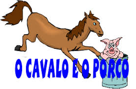 Resultado de imagem para imagem o cavalo e o porco